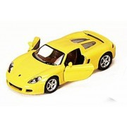 Porsche Carrera Gt, Yellow Kinsmart 5081 D 1/36 Scale Diecast Model Toy Car