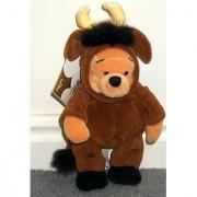 Disney Zodiac Winnie the Pooh Astrological Astrology Taurus Bull 9 Plush Bean Bag Pooh Bear Doll