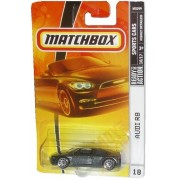 Mattel Matchbox 2007 Mbx Sports Cars 1:64 Scale Die Cast Metal Car # 18 Metallic Grey Exotic Luxury Sport Coupe Audi R8