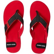 Franco Leone Men's Red Flip-Flops and House Slippers - 6 UK/India (40 EU)