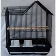 Max 705če Klec černá pro ptáky na papoušky 420 x 300 x 520 mm