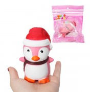 Squishy Penguin Slow Rising Soft Toy Christmas Hat Cute Kawaii Squeeze Gift
