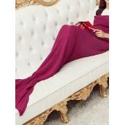 Ombre Ribbed Mermaid Blanket