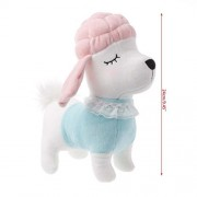 CHONE 24/29cm Kawaii Plush Stuffed Animal Dog Toy, Lovely Simulation Poodle Animals Pillow Toys, Kids Birthday Xmas Gift Dolls (Pink, 24cm)
