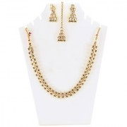 Jewels Gold Alloy Amazing Golden Plated Traditional Designer JG-NC4563 Necklace Maangtikka Set