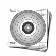 Tarcze strzeleckie do wiatrówki 14x14cm, kartonowe, 20szt
