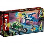 Lego set de construcción lego ninjago vehículos supremos de jay y lloyd 71709