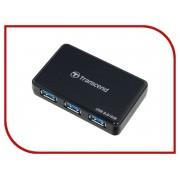Transcend TS-HUB3K USB 3.0 4-ports Black