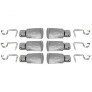 Hans Enterprise Set of 6 Stainless Steel Single Curtain Rod Bracket pack of 12