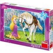 Puzzle - Rapunzel si calutul Maximus 24 piese
