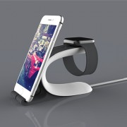 LOCA Mobius Charging Stand for Apple Watch iPhone iPad Mobile Phone Tablet - Black