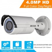 HIKVISION HD Security IP Camera DS-2CD2642FWD-IZS 4MP 1080P Real Time Video IR Bullet CCTV Camera Motorized Vari-Focal 2.8~12mm