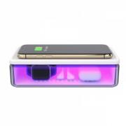 Cutie multifunctionala N52 cu sterilizare UV-C , aromaterapie si incarcator Qi Wireless 15W, alb