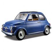 Bburago 1965 Fiat Diecast Model Car (1:24 Scale) Yellow