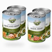 Bellfor Hondenvoer Startpakket natvoer met kip of lam - Vrijloopmenu 2x400g + Heide-menu 2x400g