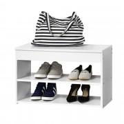 [en.casa] Шкаф за обувки - Бял