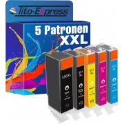 Tito-Express PlatinumSerie PlatinumSerie® Set 5x inktcartridge XXL voor Canon PGI-550XL & CLI-551XL Canon Pixma IP7250 MG5450 MG6350 MX725 MX925