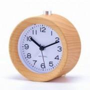 Ceas clasic analogic cu cifre iluminat LED alarma lemn masiv pentru birou