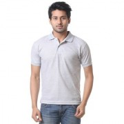 Calibro Mens Grey Polo Neck T-shirt