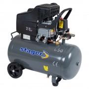 Compresor de aer Stager HM2050B, 50 L, 200 l/min, 8 bar