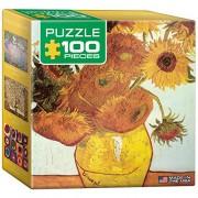 Euro Graphics Twelve Sunflowers Vincent Van Gogh Mini Puzzle (100 Piece)