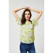 MOODO Bluzka koszulowa z motywem kwiatów - - żółty