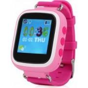 Ceas GPS Copii iUni Kid90 Telefon incorporat Buton SOS BT LCD 1.44 Inch Roz