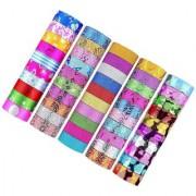 DIY Crafts Washi Tape Set of 50 Rolls Multi-Purpose Masking Tape Great for DIY Decor- Multicolour