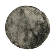 Blana oaie artificiala neagra Ø 100 cm