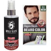 Mister Beard Hair Serum With Bigen Men's Beard Color B102 Brown Black