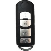 Carcasa cheie Smartkey compatibil Mazda 4 butoane lamela MAZ 24 R negru-crom