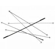 Panze traforaj cu pin Proxxon 25 TPI (12 buc)