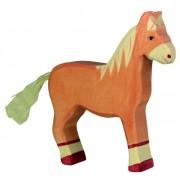 Fa játék állatok - ló, világosbarna, álló