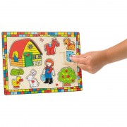 """Playtastic Lustiges Holzpuzzle """"Mein kleiner Bauernhof"""", 8-teilig"""