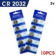 10 stks/partij CR2032 BR2032 DL2032 lir ml2032 L2032 CR 2032 cr-2032 Lithium Ion 3 V Knoopcel Batterij Coin voor switch