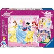 Детски Пъзел Дисни Принцеси, 3 х 49, 700605