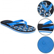 Daily Walk Men Men's Black And Aqua Flip-Flops And Regular Walking House Slippers