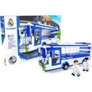 Set de constructie autobuz de la Nanostars cu Real Madrid 267 piese 3 figurine +folie auto cadou