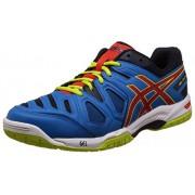 Asics Men's Gel-Game 5 Methyl Blue, Orange and Lime Tennis Shoes - 6 UK/India (40 EU) (7 US)