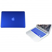 Case Carcasa + Protector De Teclado Para Macbook Pro 13'' Sin Touch Bar Model (A1708) -Azul Fuerte