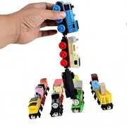 5pcs/lot Wooden Magnetic Thomas Circus Train Donald Lady Gordon and Friends Lorry Track Railway Vehicles Diecast Toy Colors and Designs Might Vary