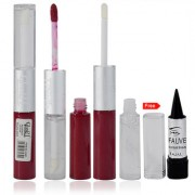 Glam21 2in1 Longlasting Waterproof Red Lip Gloss Pack of 1 Free Kajal-05