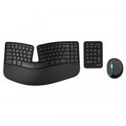 Kit tastatura si mouse Microsoft Sculpt Ergonomic Desktop Wireless USB Negru