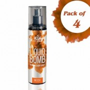 Liquid Bomb Perfumed Body Spray - Musk (Set of 4)