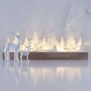 Delicate LED candle arch Johannesberg, wood