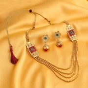 Meia Gold Plated Gold Alloy Necklace Set For Women