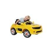 Carro Elétrico Infantil Camaro Amarelo com R/C 6V - Bandeirante