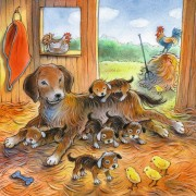 Puzzle Ravensburger - Animale Si Pui, 3x49 piese (08029)