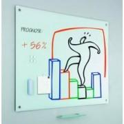 Tabla alba SMIT magnetica din sticla 100 x 150 cm burete + 5 magneti + tavita markere incluse