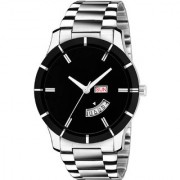 The Shopoholic Analogue Black Dial Day Date Men Watches-(EG-M-114)